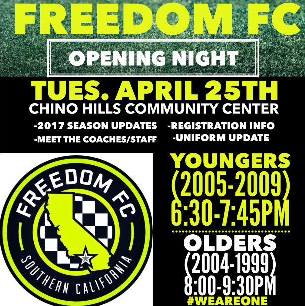 Freedom FC Opening Night