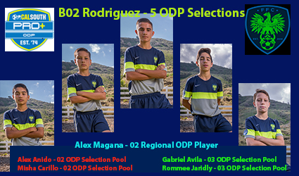 Rodriguez B02 5 ODP Selections